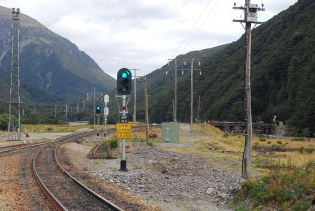 Arthur's Pass, South Island, New Zealand:  approach to Otira Tunnel