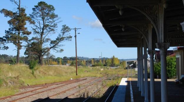 Armidale Railway Station, New South Wales, Australia:  looking towards Brisbane