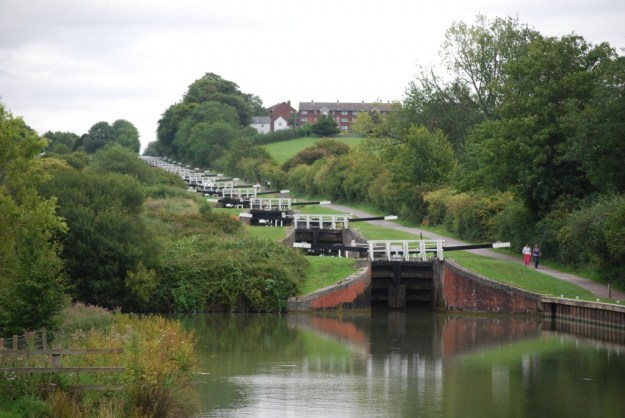 Caen Hill Locks, Kennet & Avon Canal, Wiltshire