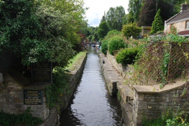 Somerset Coal Canal:  stop lock at Dundas Aqueduct