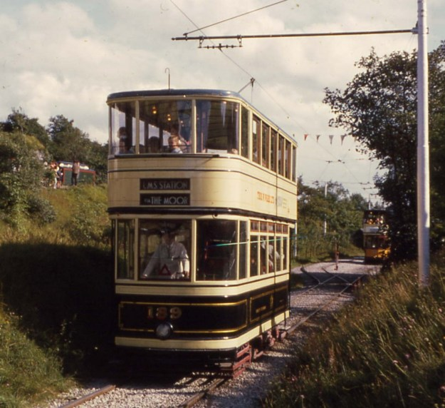 National Tramway Museum, Crich: Derbyshire:  Sheffield 189 (running in 1968)