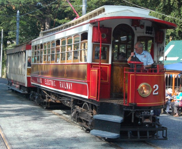 Manx Electric Railway motor-car 2, with trailer 41