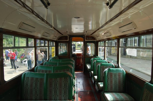 National Tramway Museum, Crich, Derbyshire:  Sheffield 510, lower-deck interior