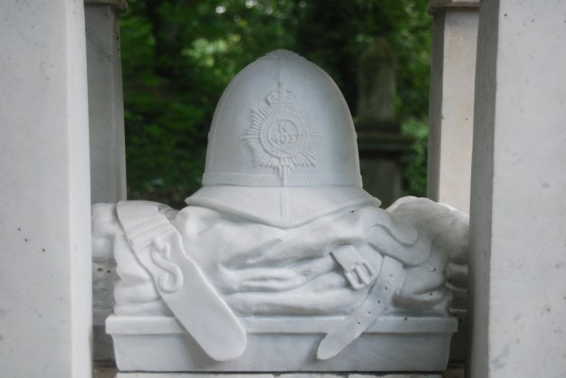 Monument to PC William Frederick Tyler (c1878-1909), Abney Park Cemetery, London