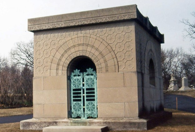 Graceland Cemetery, Chicago:  Clara Eliza Getty mausoluem