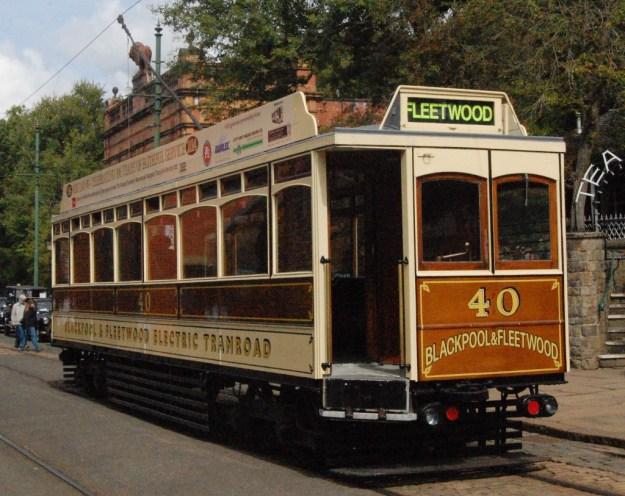 National Tramway Museum, Crich, Derbyshire:  Blackpool & Fleetwood 40