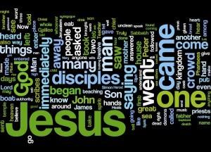 Gospel of Mark Word Cloud.  Photo Credit: Grace & Peace Community Church