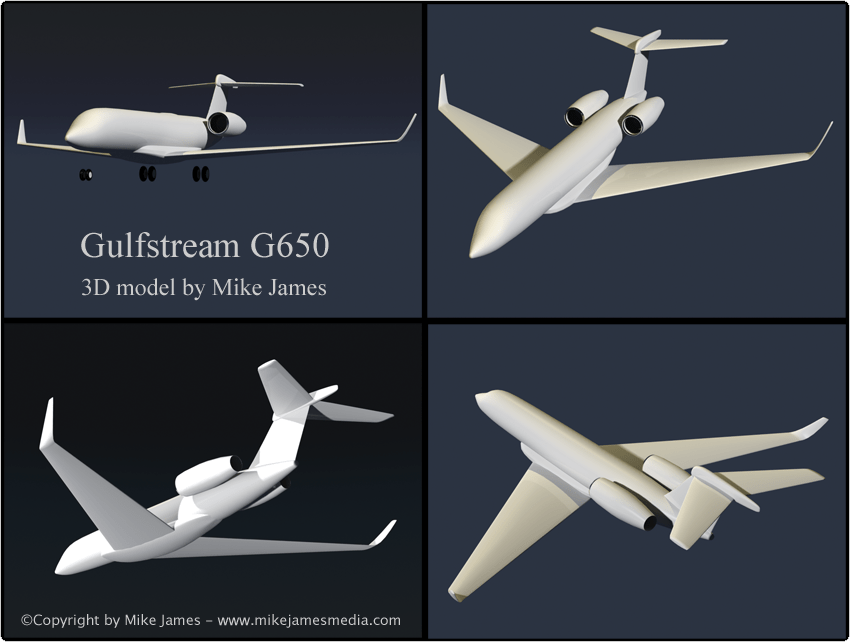 Mike James Media Gulfstream G650 Business Jet Project