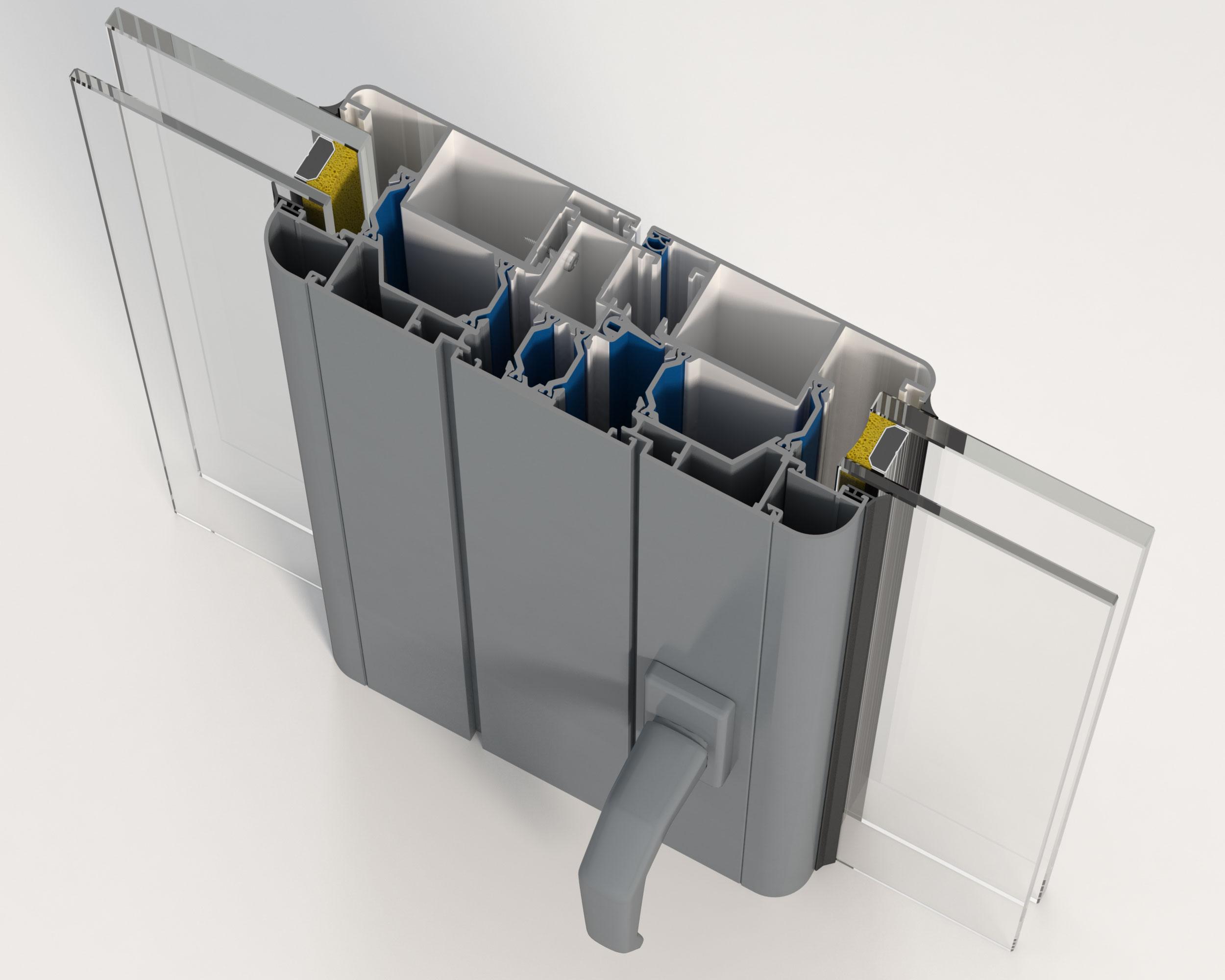 3d Ventana de Aluminio