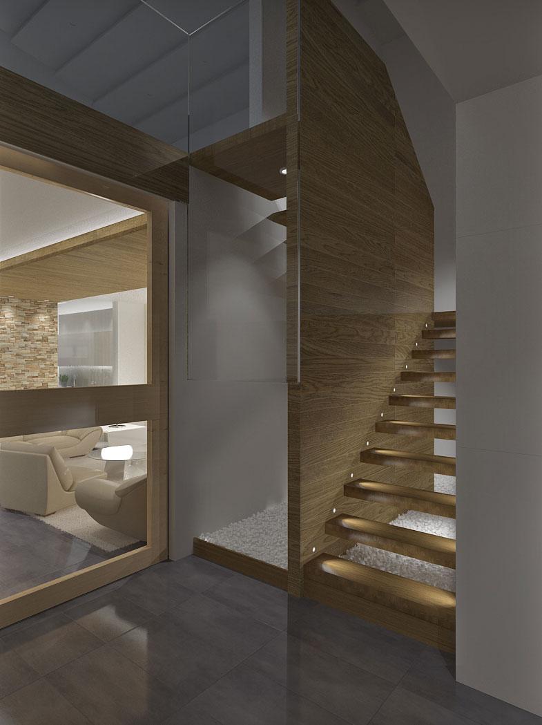 Vamos al piso de Arriba. ¿Por estas escaleras?