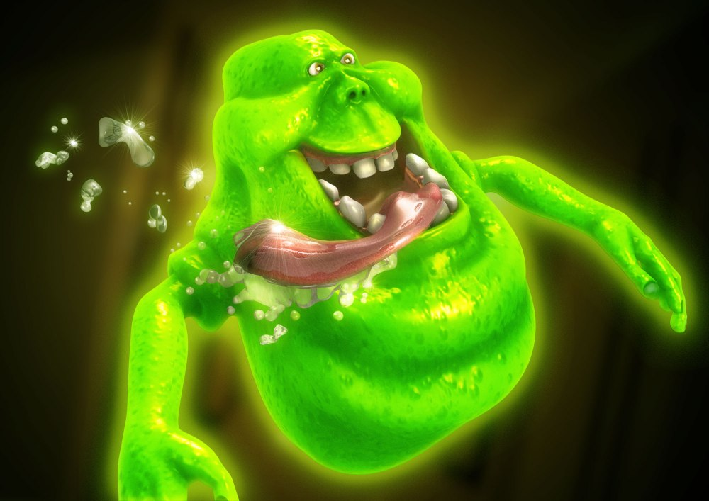 "Illustracion Slimer Tributo a Cazafantasmas ""Ghostbusters"" Imagen Final"