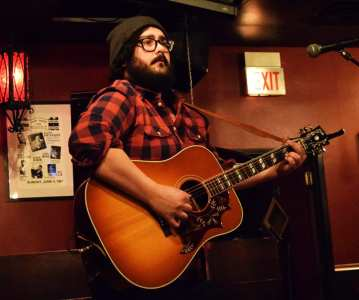 Ryan Joseph Anderson playing a new song at High Hat Club
