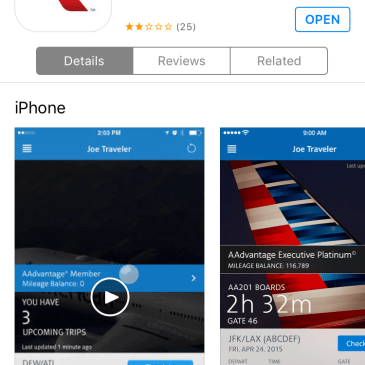 The Promise of Mobile Tech – My Experience with American Airlines App
