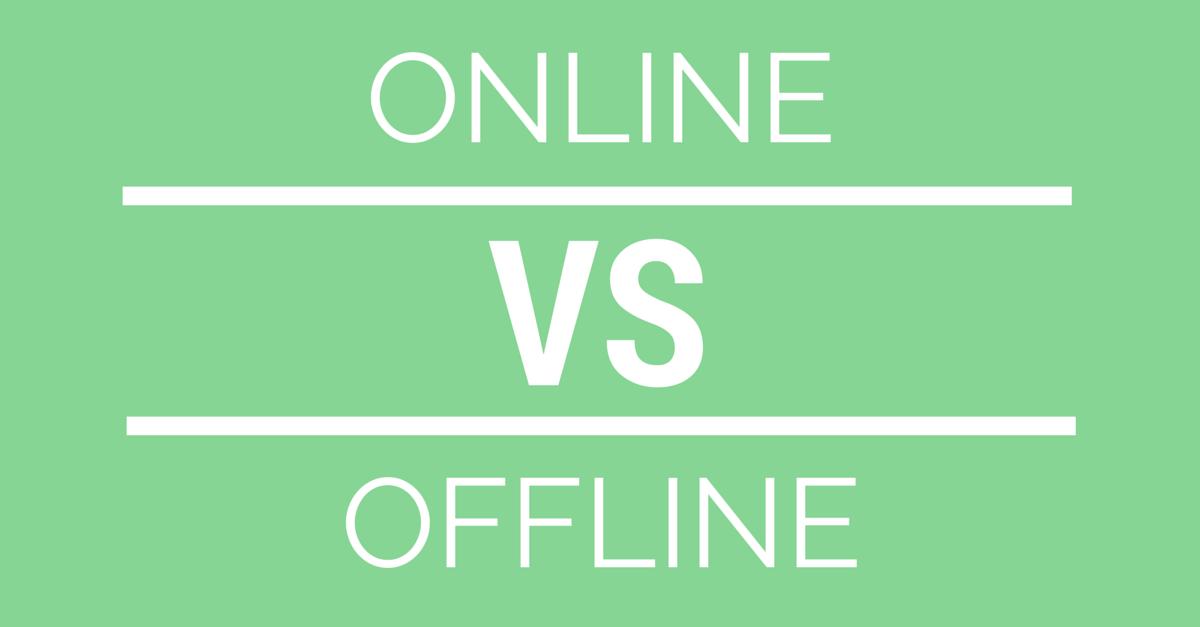 Image result for online vs offline logo