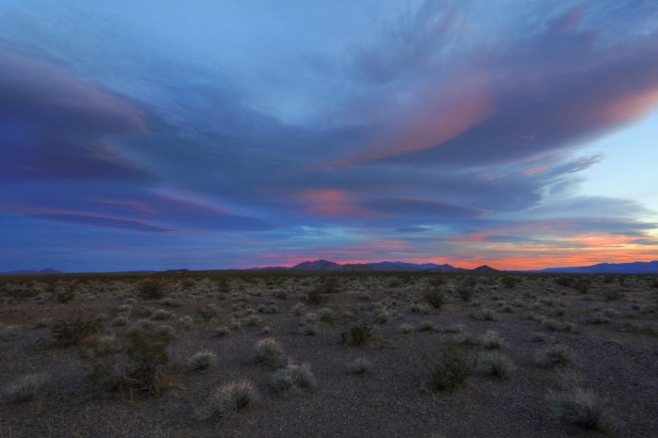 Sunset south of Boulder City, Nevada