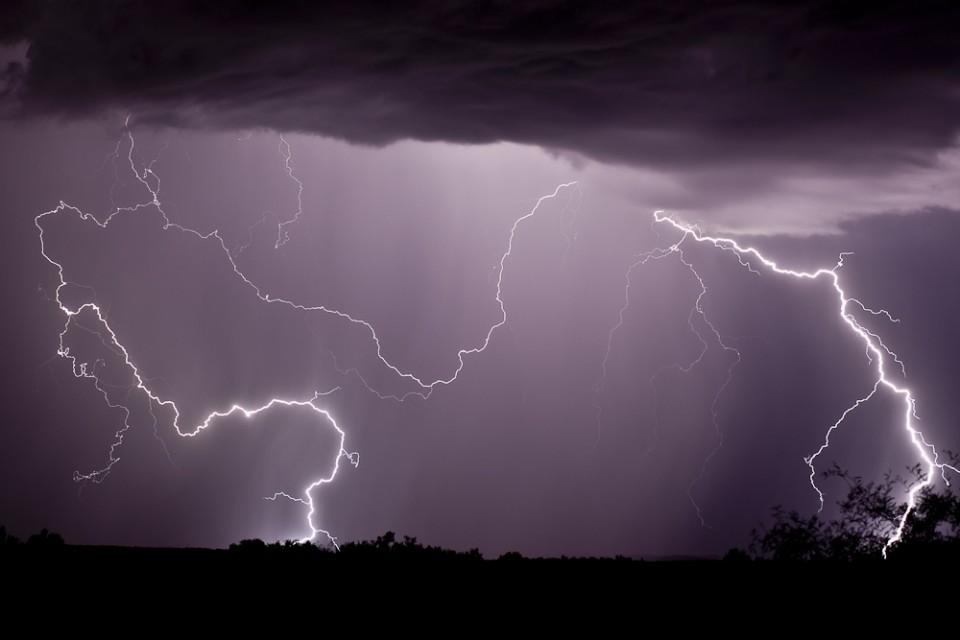 Arizona Monsoon Lightning Sedona