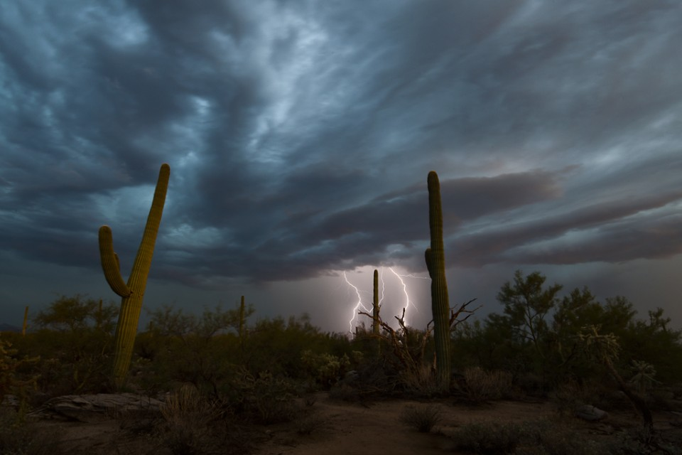 Leaning - Arizona Monsoon Lightning