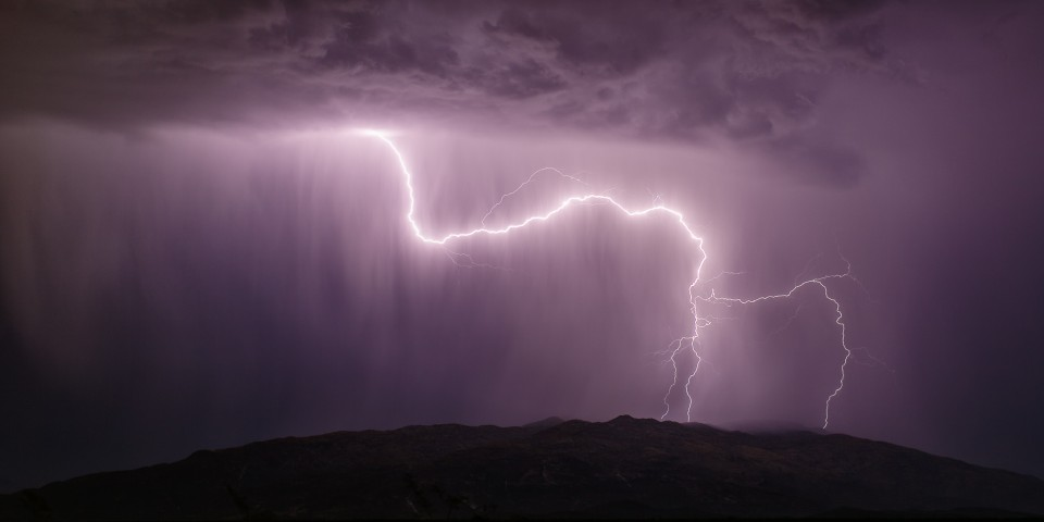 Lightning over the Rincons