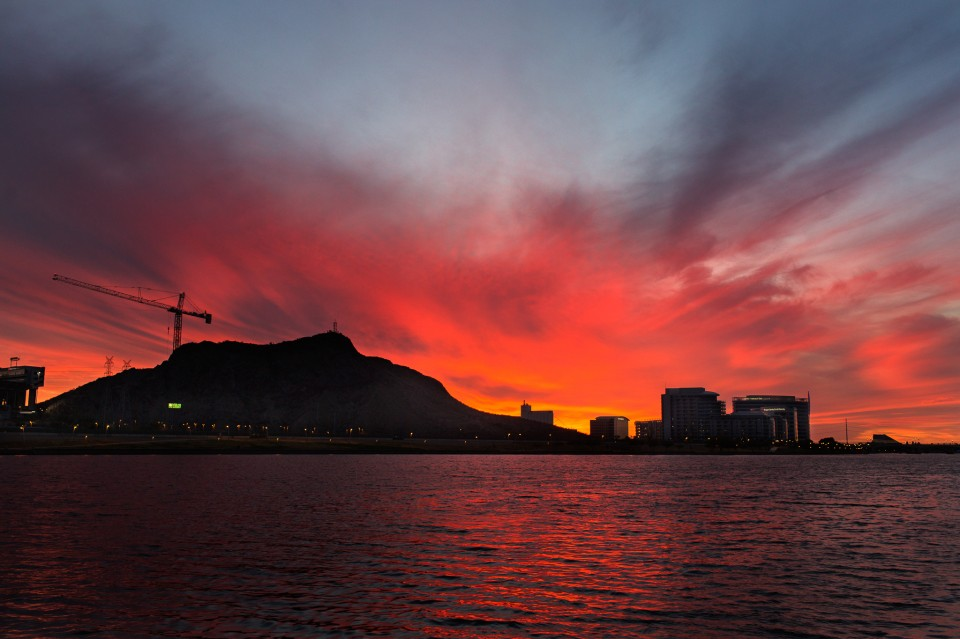 Sunset over Tempe Town Lake