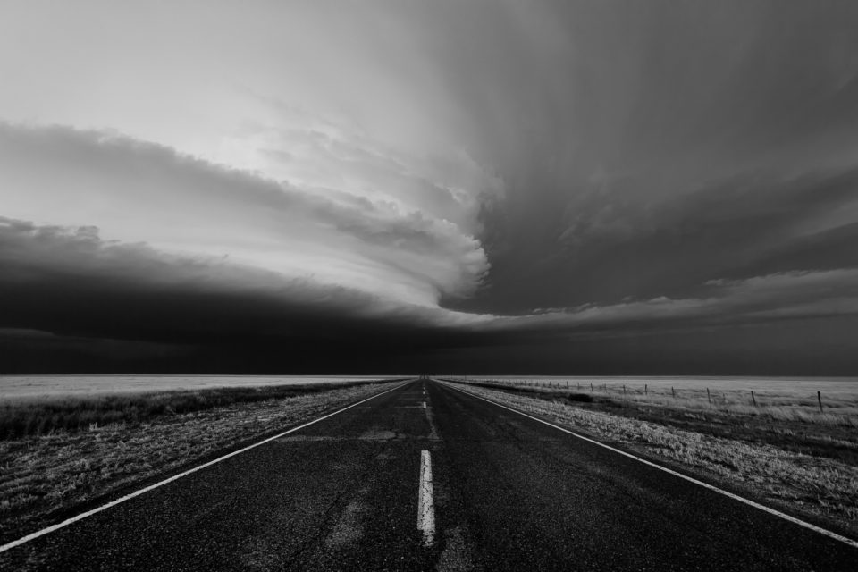 A beautiful, sculpted supercell roams the plains of the Oklahoma Panhandle.