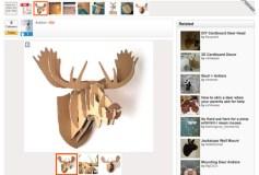 Cardboard Box Moose Head Wall Hanging Project