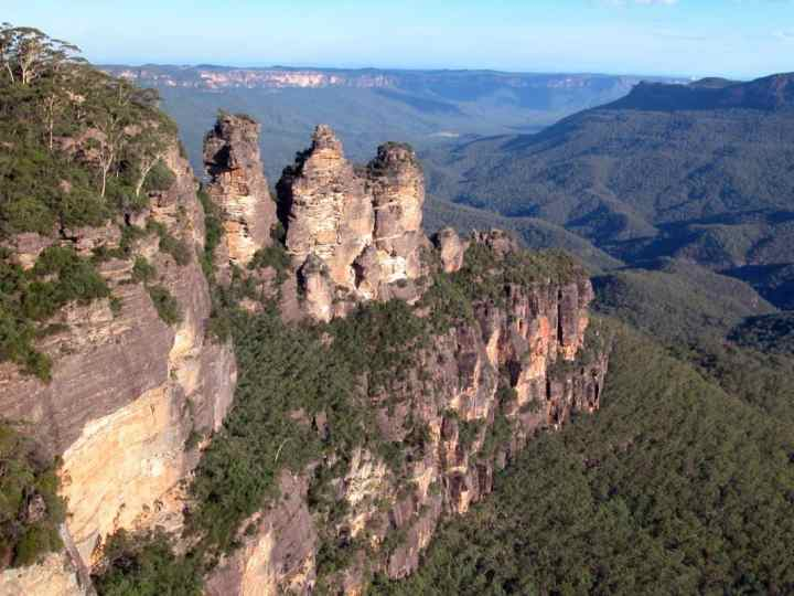 Photo of the Blue Mountains, near Sydney. These are a section of the Great Escarpment.