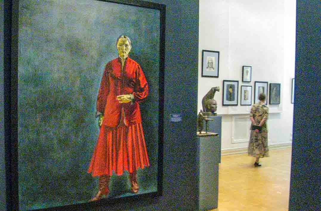 Self portrait of Kcenia Nechitailo, State Russian Museum in St Petersburg,
