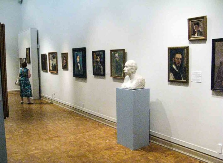 The exhibition of Self-Portraits 'My Own Self' at the State Russian Museum in St Petersburg,