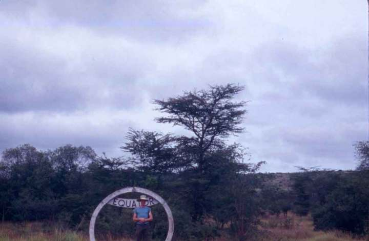 """I see you now!"" Me at the Equator, Kasese, Uganda."