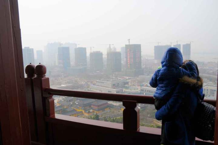 View from the Yuejiang Tower complex, Lion Hill, Nanjing.