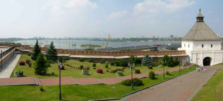 The view from the Kazan Kremlin towards the Kazanka River.