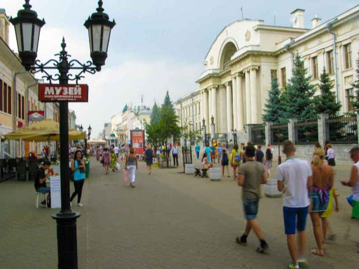 The main pedestrian street in Kazan.