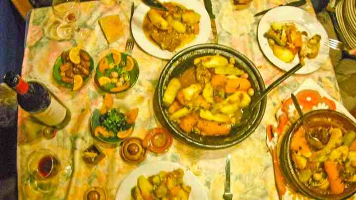 A Moroccan meal.