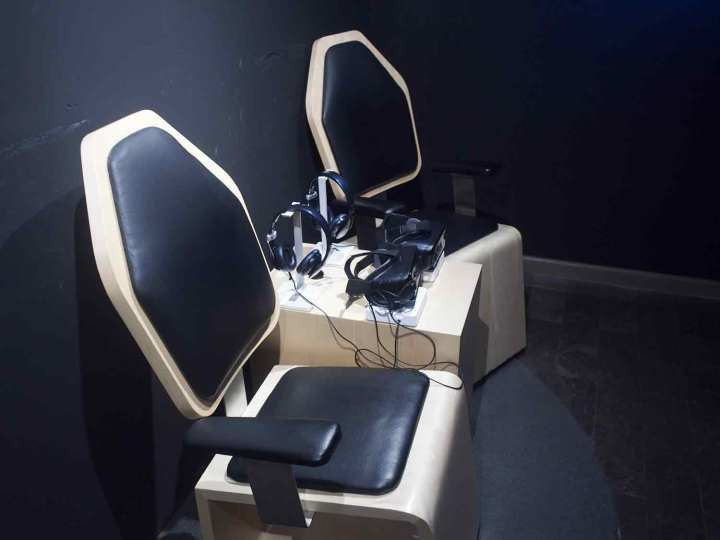 The virtual reality chairs in Mexico City's National Museum of Anthropology.