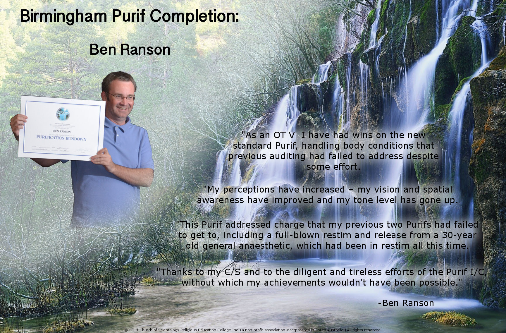 ben ranson purif completion