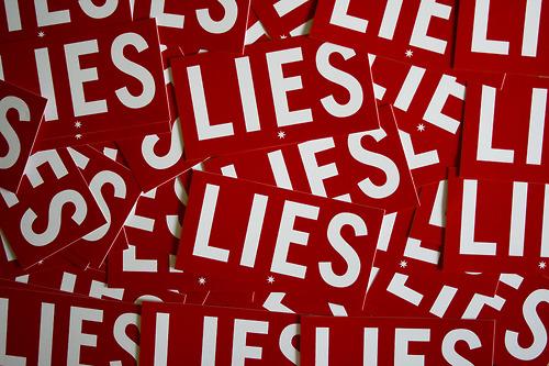 lies, red