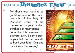 It's Dianetics Day – Fundraising's Up
