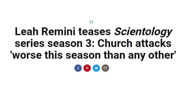 Scientology Coming (Further) Unhinged