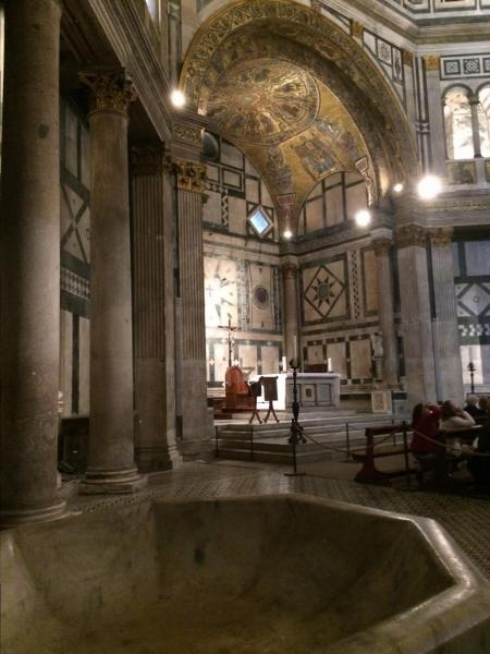 The interior of the thousand year old Florence Cathedral baptistery     The interior of the thousand year old Florence Cathedral baptistery Venice   Italy  On the ITALY tour  20 April 2015