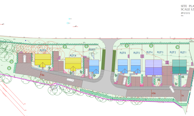 Planning application for houses off Paper Mill Drive