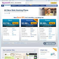 Yahoo! Web Hosting screenshot