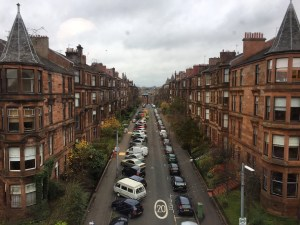 The view of Glasgow's West End from our meeting with Communitas missionaries