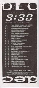 9:30 Club Flyer December 1995