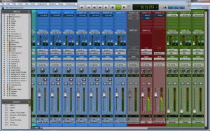 Pro Tools® 10.3.5 Mix Window