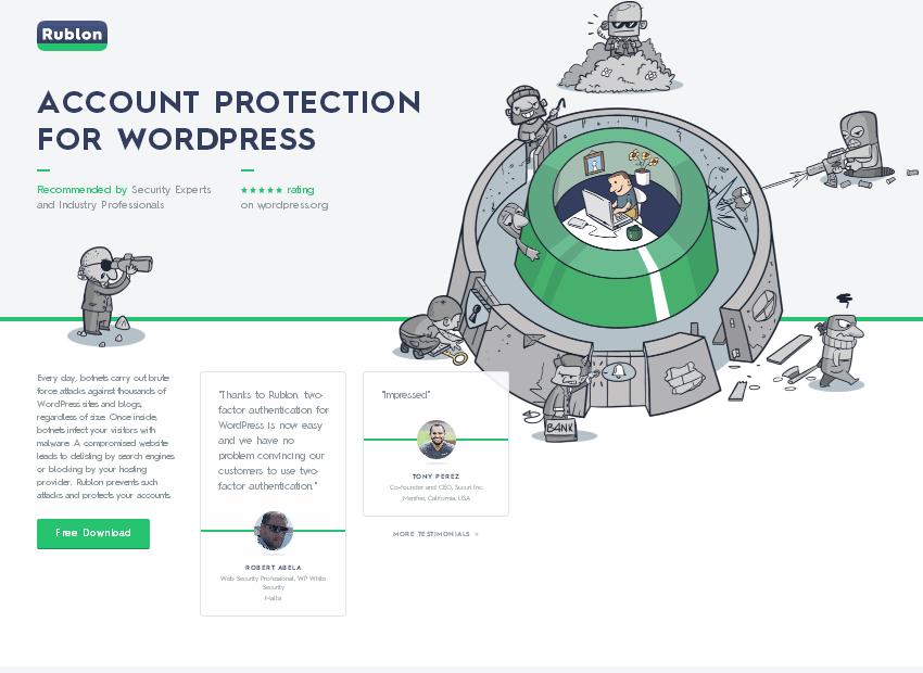 Rublon Account Protection for WordPress