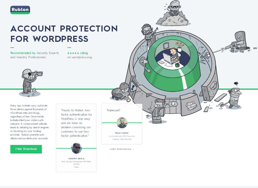 Rublon Account Protection for WordPress