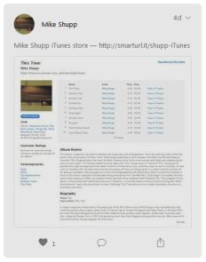 Mike Shupp iTunes Store