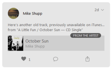 """""""October Sun"""" on Apple Music Connect"""