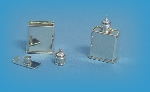 Miniature silver tea caddy