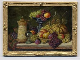 miniature painting 0230 Still Life with a Flagon, Goblet and Fruit